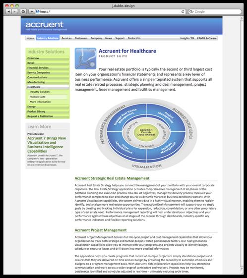 Accruent website design for a real estate management for Real estate design software